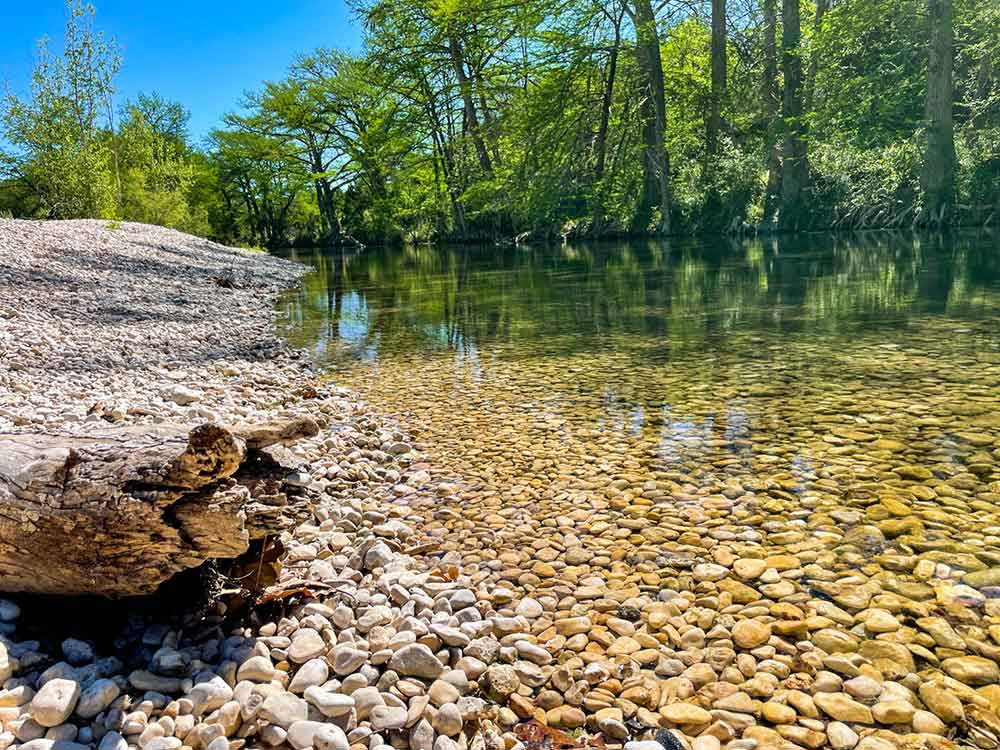 frio river cabins natural spring pool with rock bottom